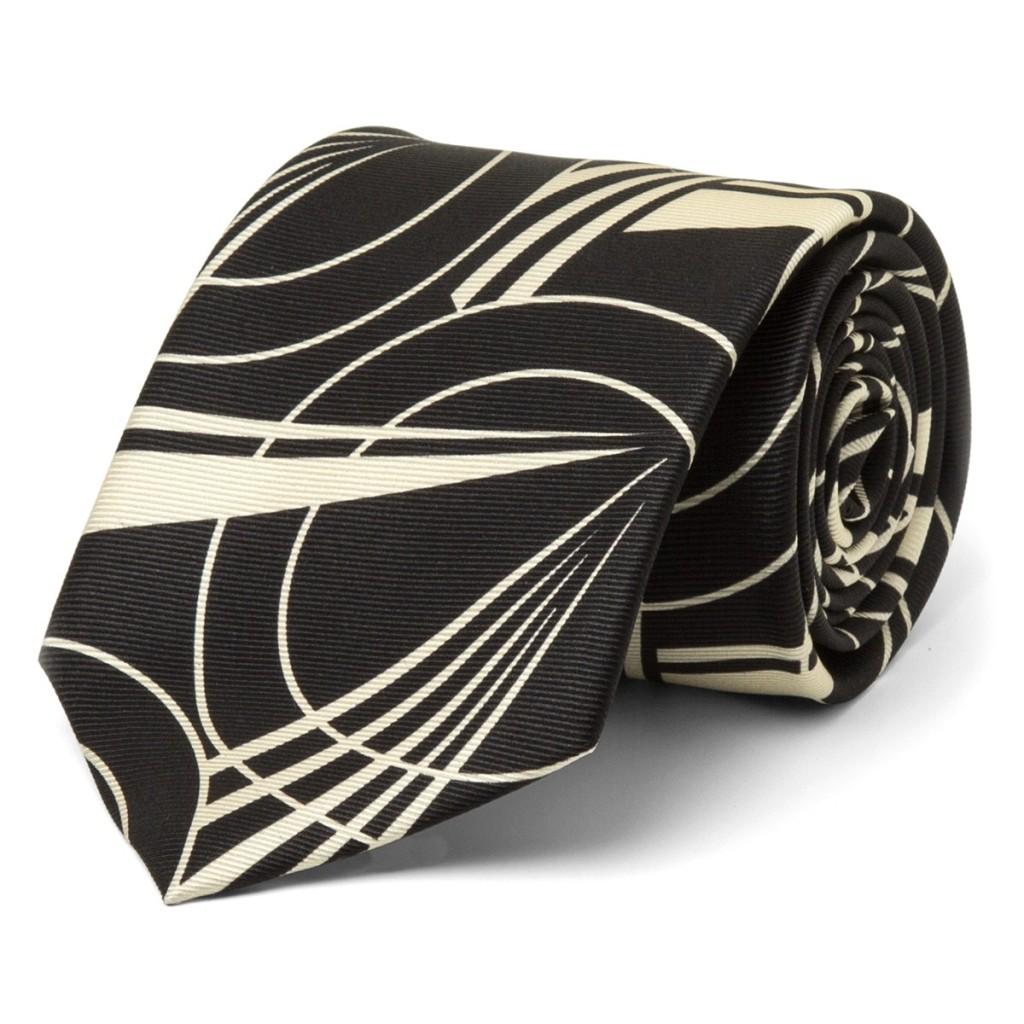 Line Deco Silk Tie