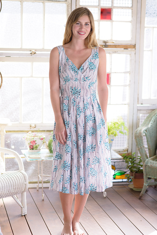 Alice Dress in the Port Fairy print