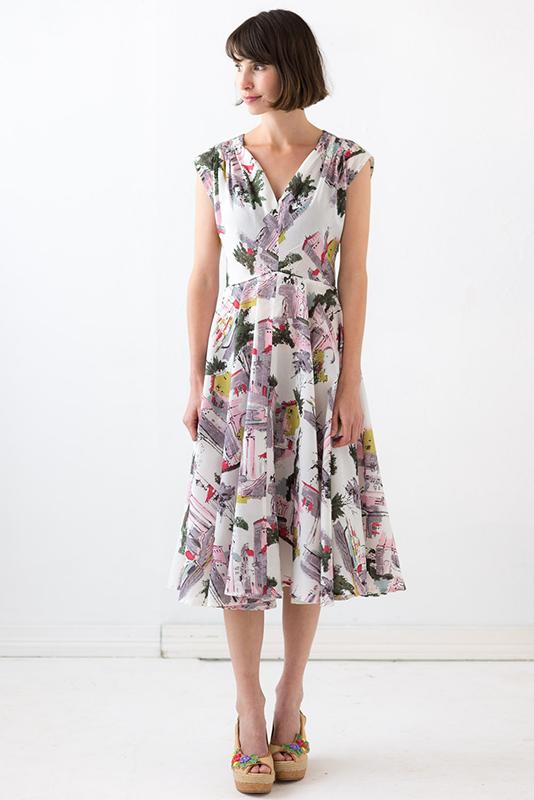 Allegra Dress in Sorrento print