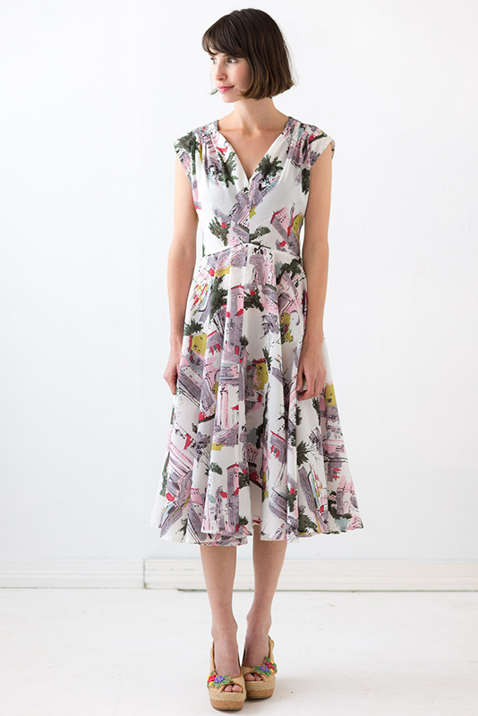 Allegra Dress in Sorrento print