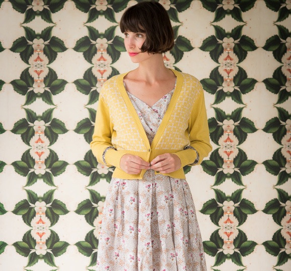 Verity cardigan, also available in blue and green - I love a patterned cardi!