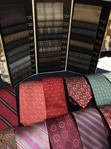 Victor's fabric samples and ties