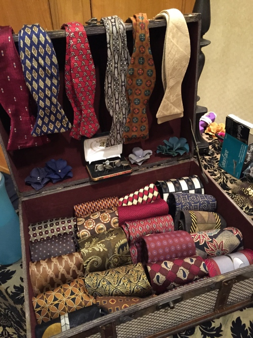 The Forties Forward neck tie and bow tie selection.