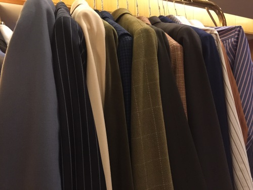 A cross-section of suit jackets from Chloe Hong.