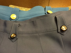Lovely buttons on trousers by Chloe Hong